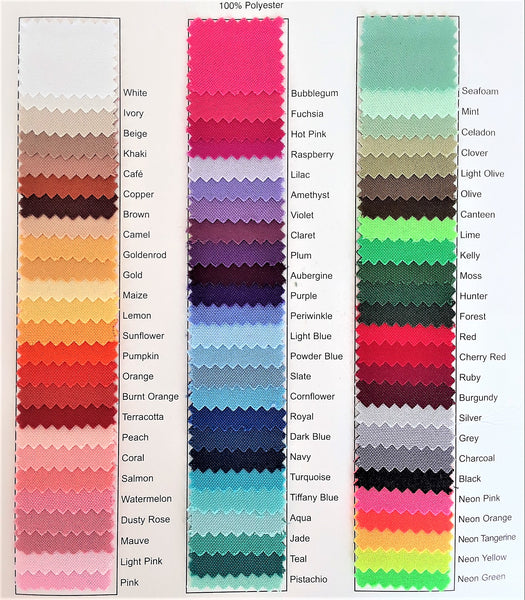 "Table Linens - 132"" Round Rental Color choices"