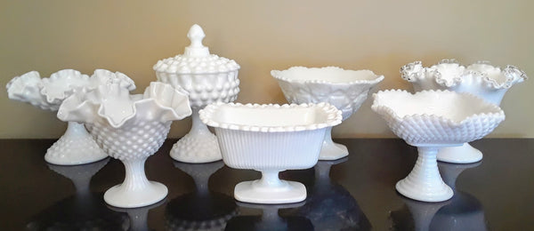 Medium Size Milk Glass Candy Dishes