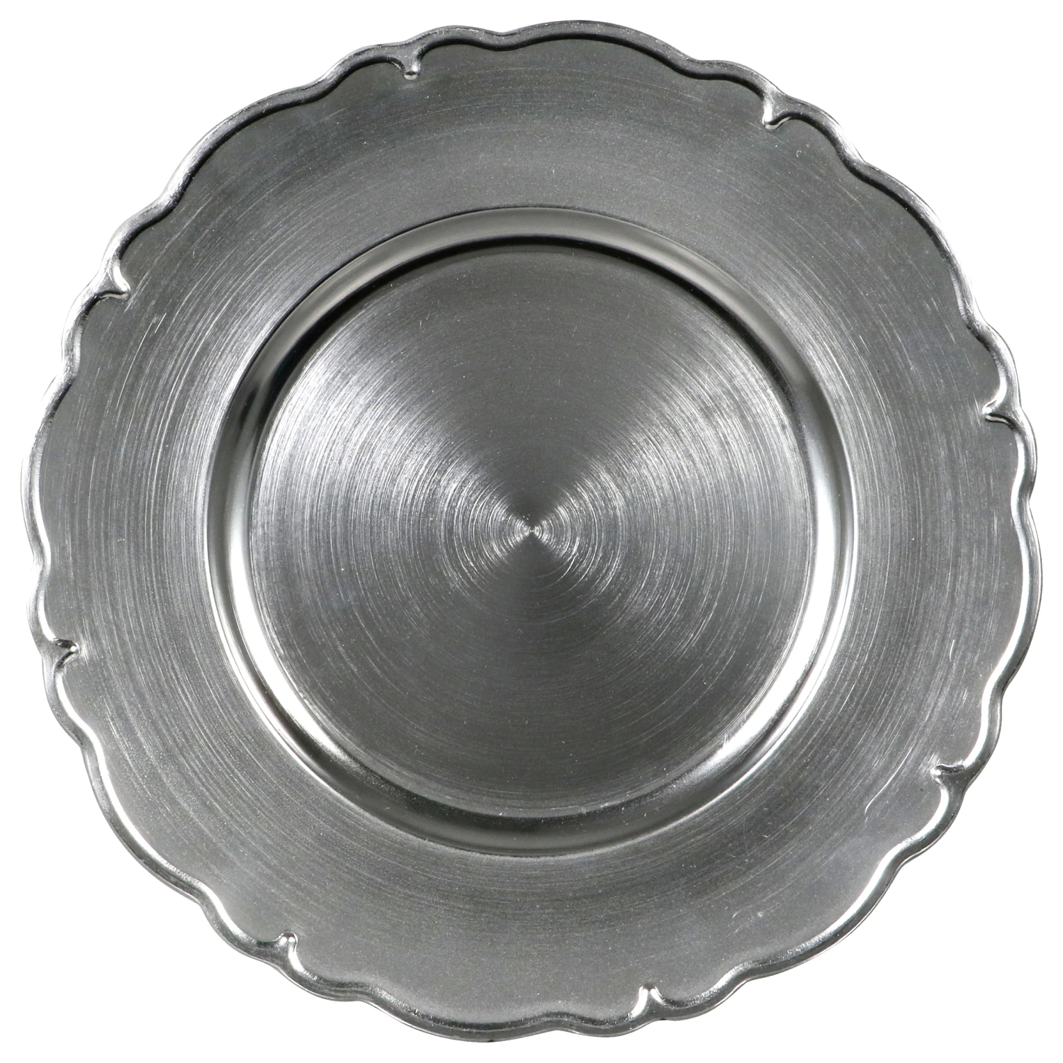 Silver Scroll Charger Plates / Service Plate rental