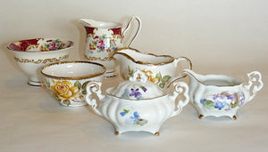 Medium Creamer & Sugar Bowl Sets
