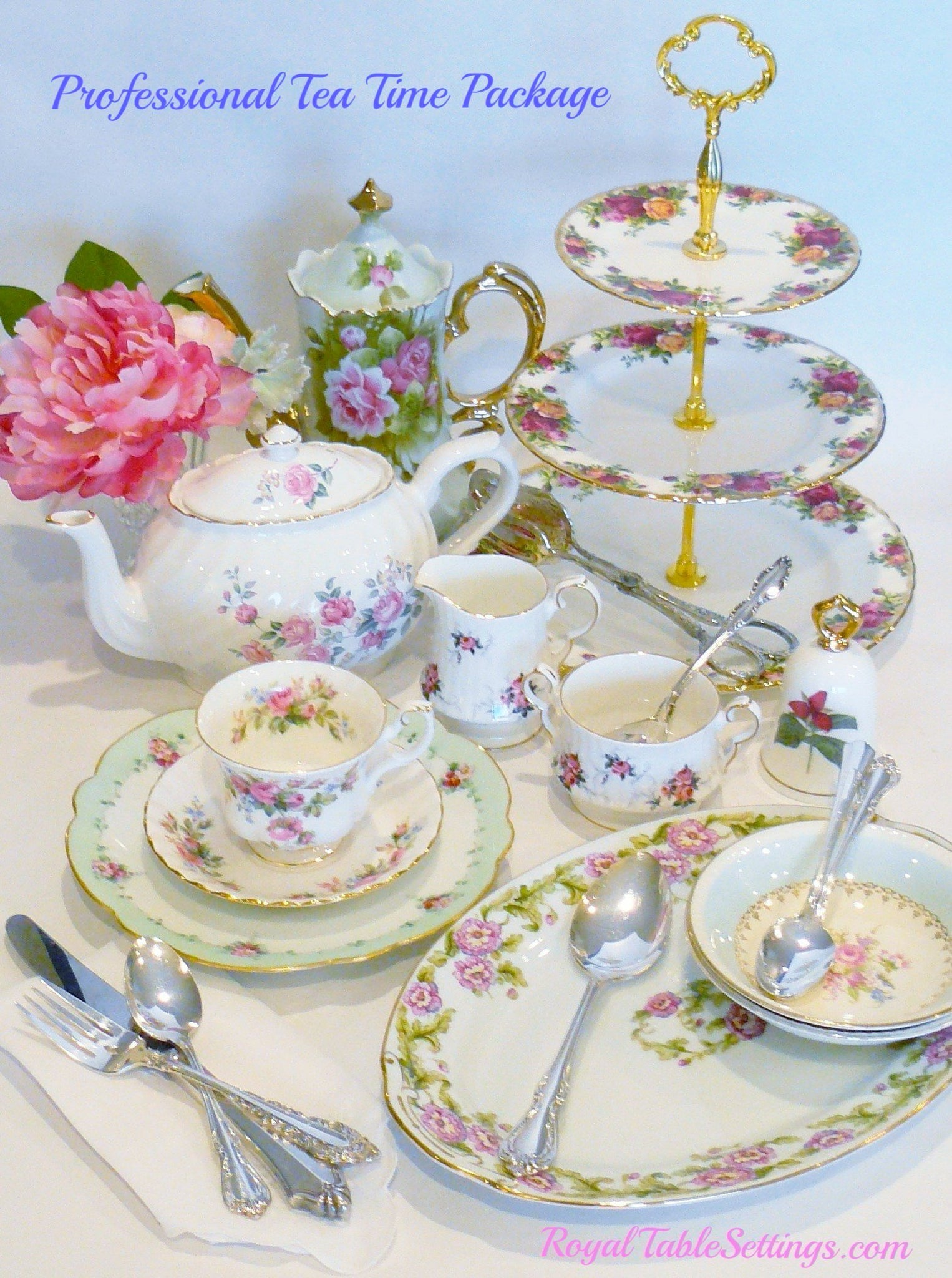 Professional Tea Time Package by Royal Table Settings