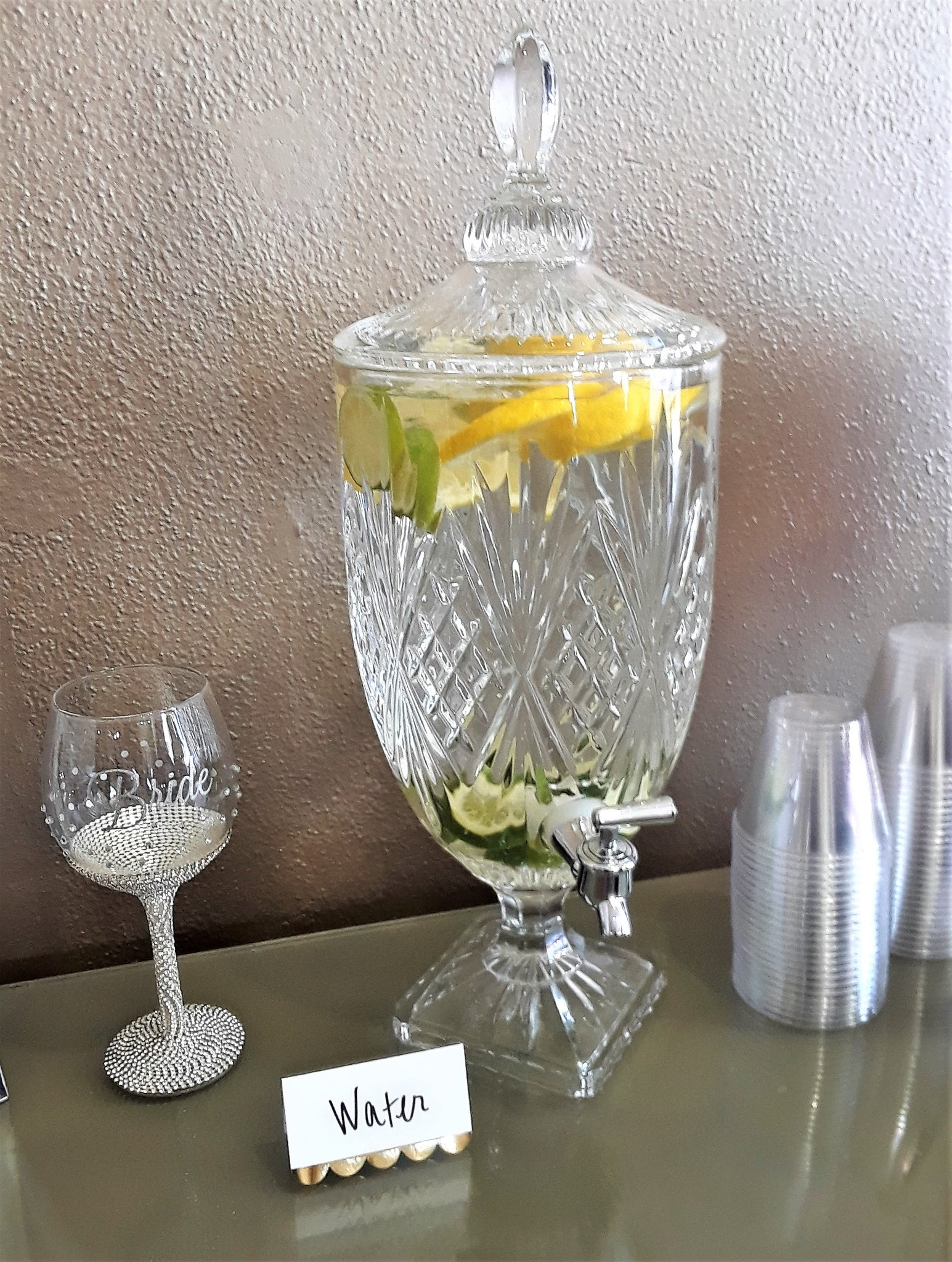 Small Crystal Beverage Dispenser