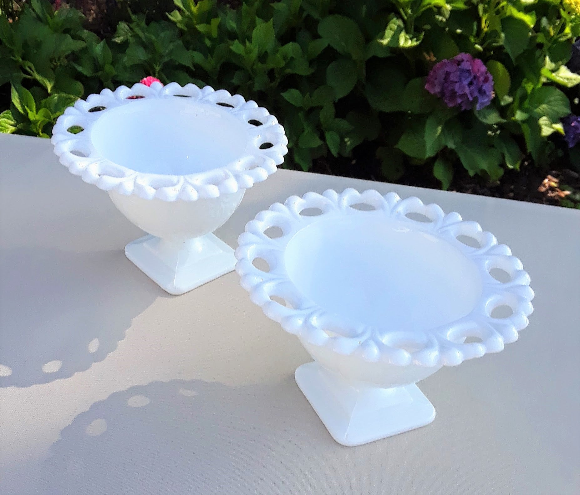 Small - Milk Glass Candy Dish