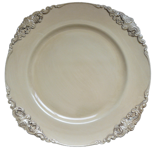 Victorian Charger Ivory / Service Plate