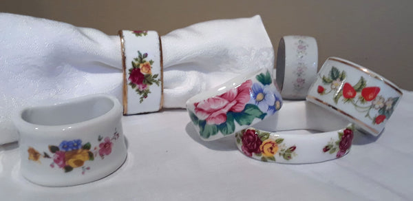 Floral Napkin Rings for rent