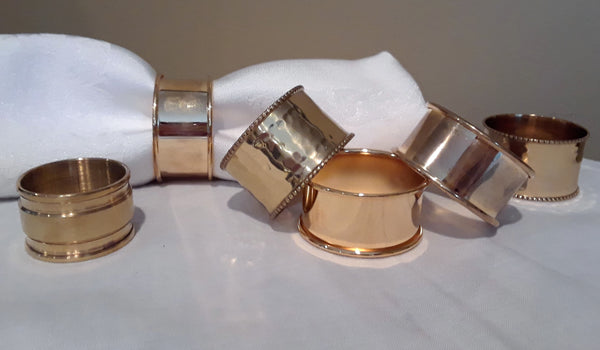 Gold Napkin Rings for rent