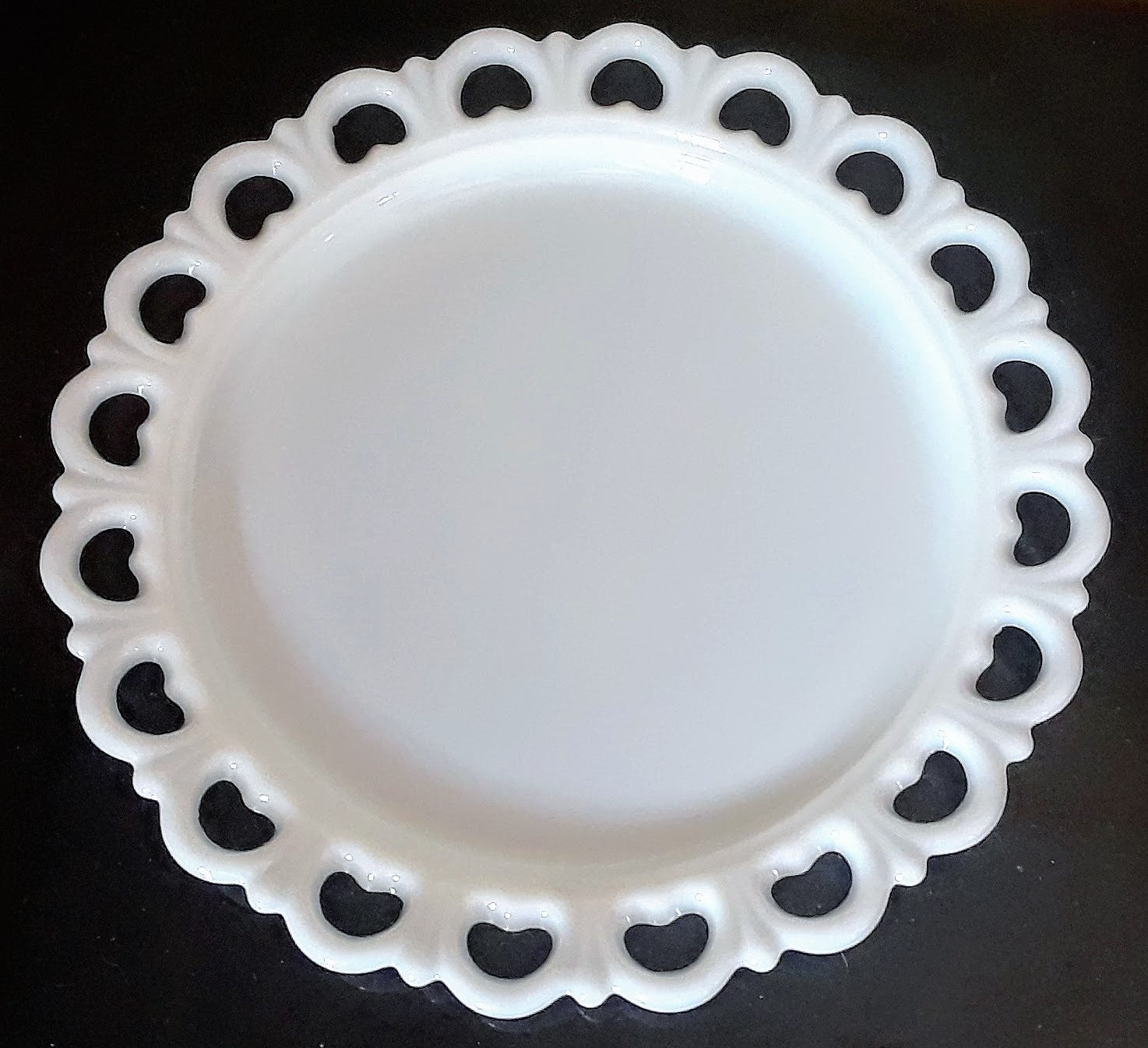 Milk Glass Round Platter