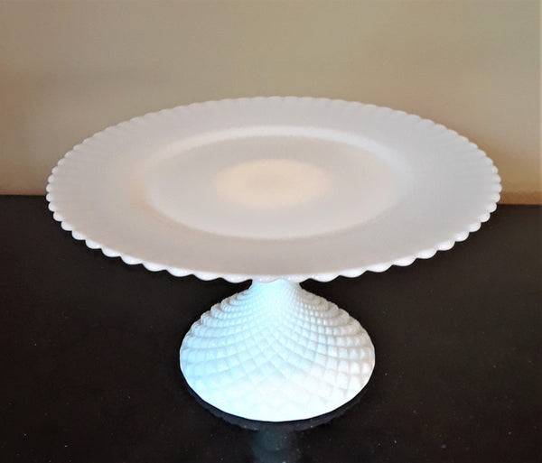 Small - Milk Glass Cake Stand