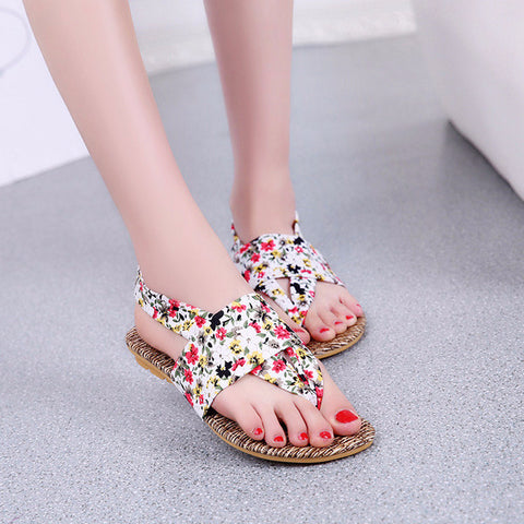 45304eb2874a Beautiful Floral Print Cool Casual Sandals