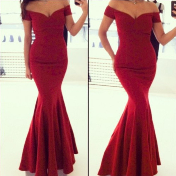 cbedc9410759 Elegant Red Bodycon Party Gown Dress – Shoe Envy Co.