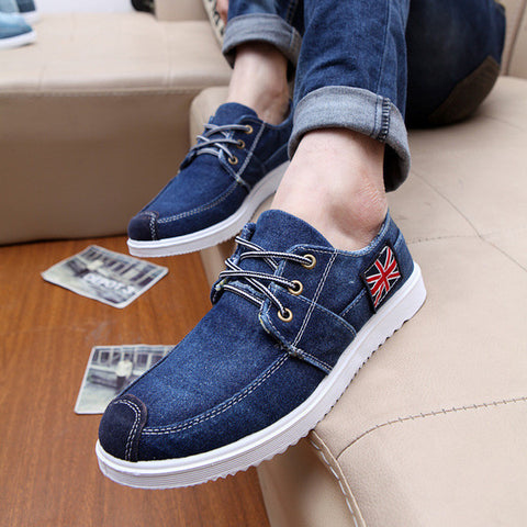 049ed9a9e Mens Trendy Denim Style Canvas Shoes