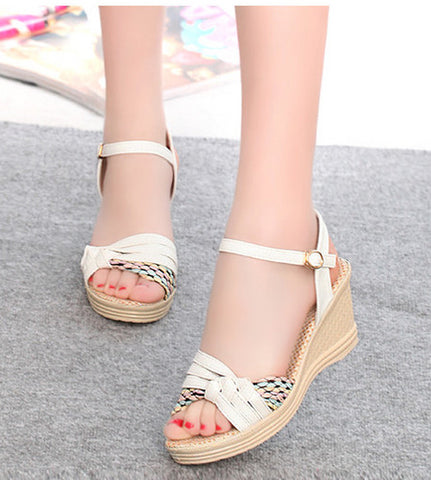 45a9c1683361 Trendy Stylish Ankle Summer Wedges