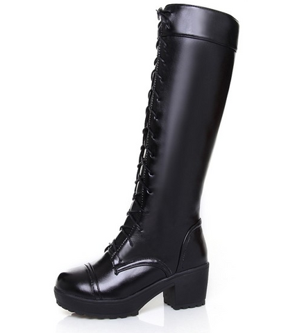 103e081c2aa Womens Edgy Knee High Lace Up Boots – Shoe Envy Co.