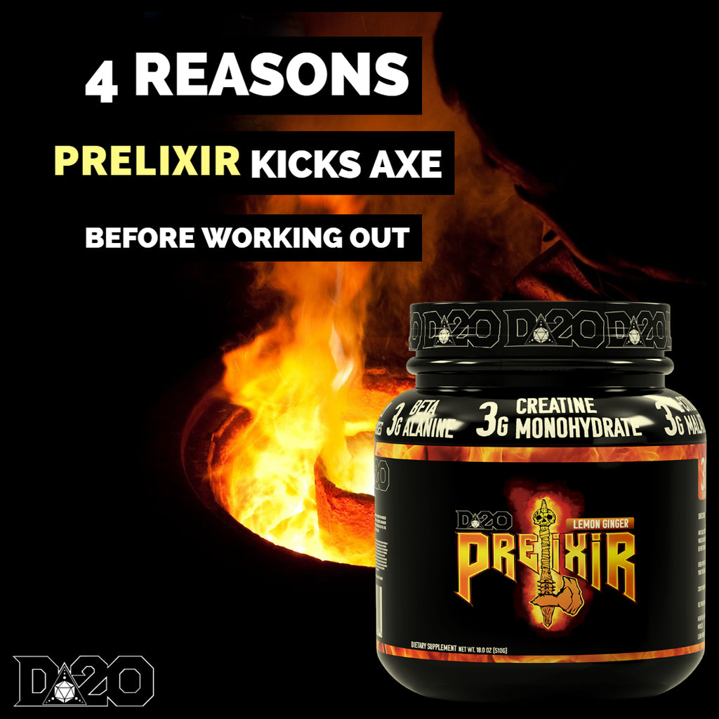 4 Reasons Prelixir Kicks Axe Before Working Out