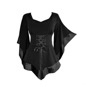 The Beautiful Darkness Blouse womens shirt goth fashion emo witchy womens shirt - crow4show