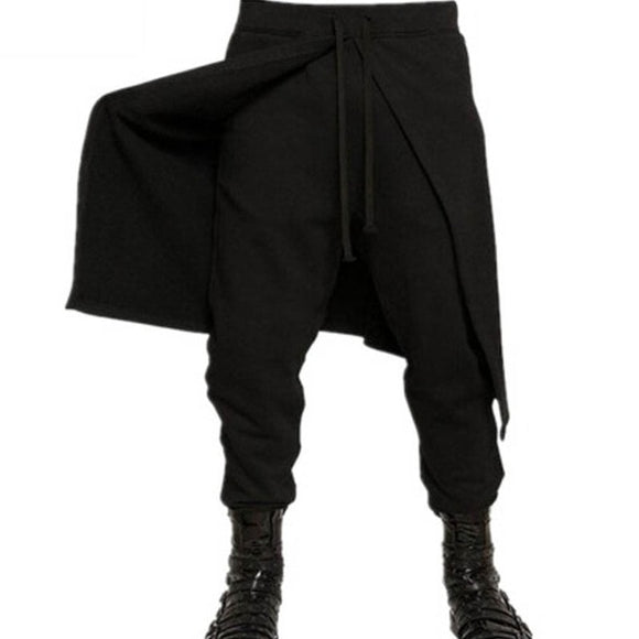 black cotton polyester japanime emo punk noir goth emo mens pants - crow4show