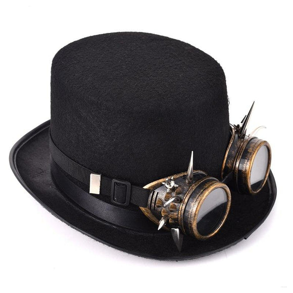 Retro Spikes Goggles Top Hat