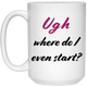 White Mug - Single Product - Feminist T Shirts & Apparel