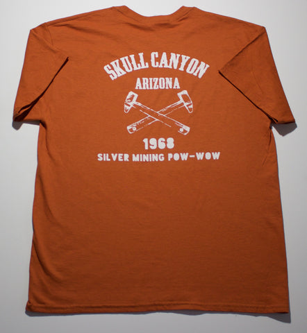Arizona T shirt Vintage Style | Men's Casual T Shirt | Arizona SKULL VALLEY 1968 Silver Mining POW WOW