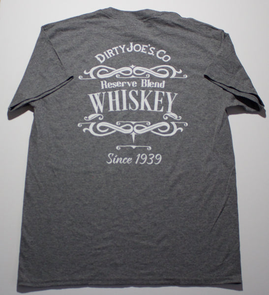 Whiskey Graphic Men's Casual T Shirt | Gray T Shirt Kansas City, Missouri | Dirty Joe's Brand