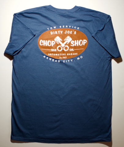 Auto CHOP SHOP Casual T shirt | Garage Style Mechanic Theme With crossed piston's
