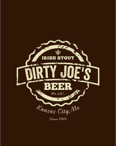 DJ'S Original Beer Label Shirt | Alcoholic Beverage Branded Beverage Logo - Dirty Joes Clothing