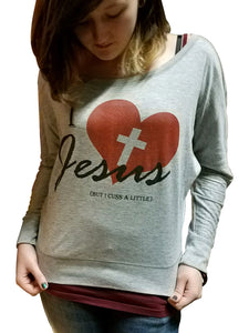 I Love Jesus Womens Long Sleeve