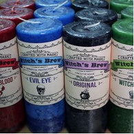 Witches Brew Pillar Candles- by Coventry Creations