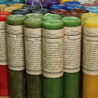 Blessed Herbal Pillar Candles- by Coventry Creations