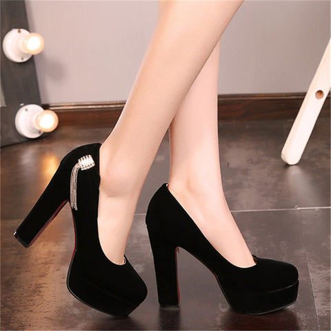 423bfd3e15 Women High Heel Shoes Platform Pumps Woman Thick High Heels Party Wedding  Shoes Ladies Kitten Heels Plus Size 33-40.41.42.43