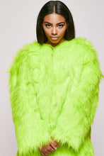 "Faux Fur Shaggy Coat ""Honey Dew"""