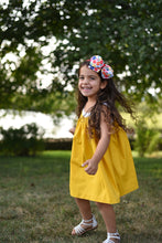 Ella Dress Rainbow - Mustard