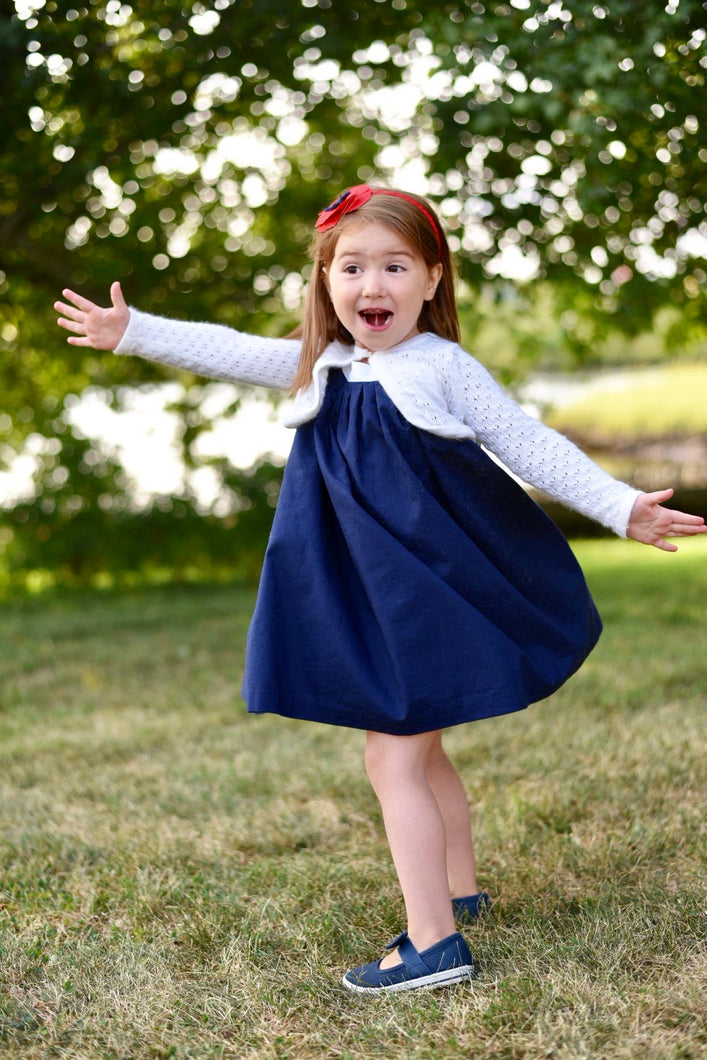 Ella Dress Rainbow - Navy