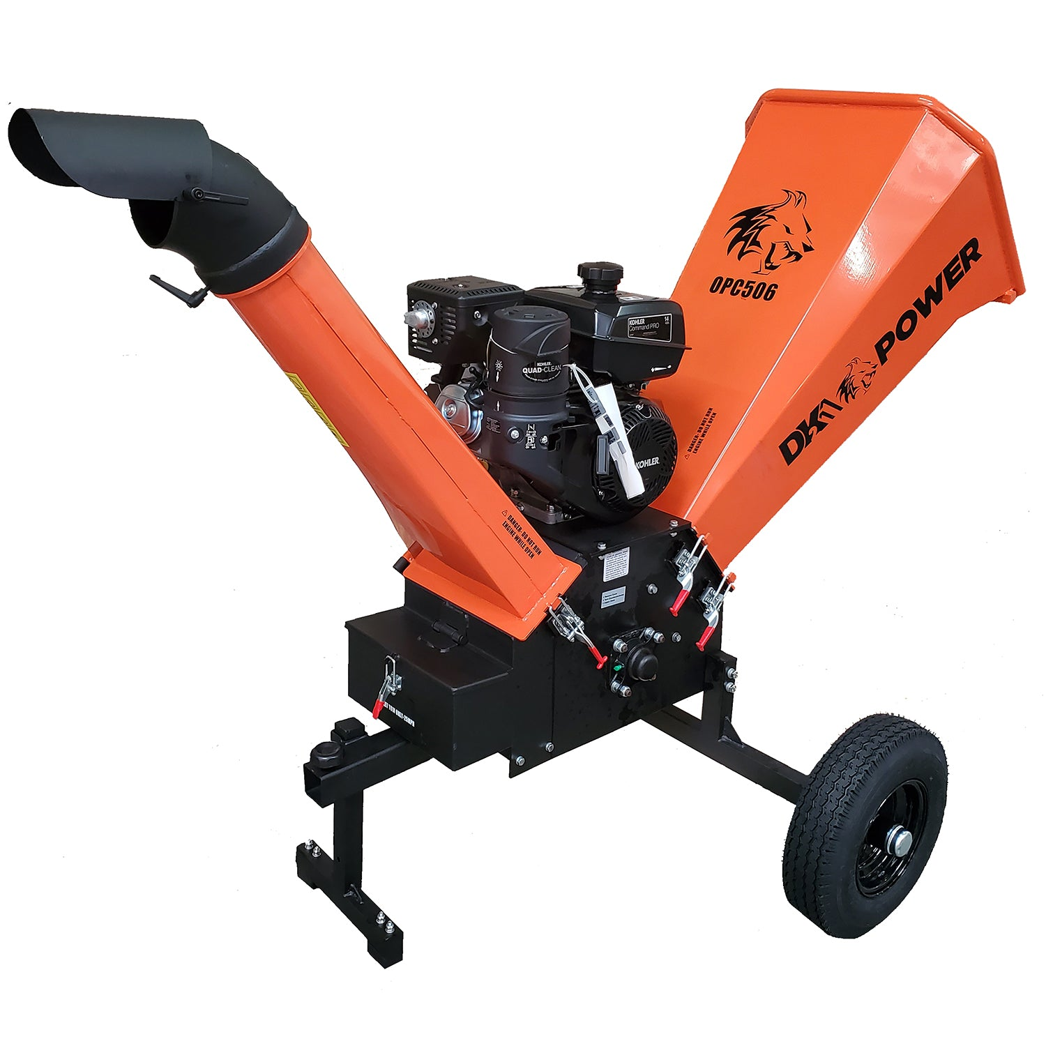 Detail K2 6 Inch 14 HP Cyclonic Chipper Shredder - OPC506-Wood Splitter Outlet