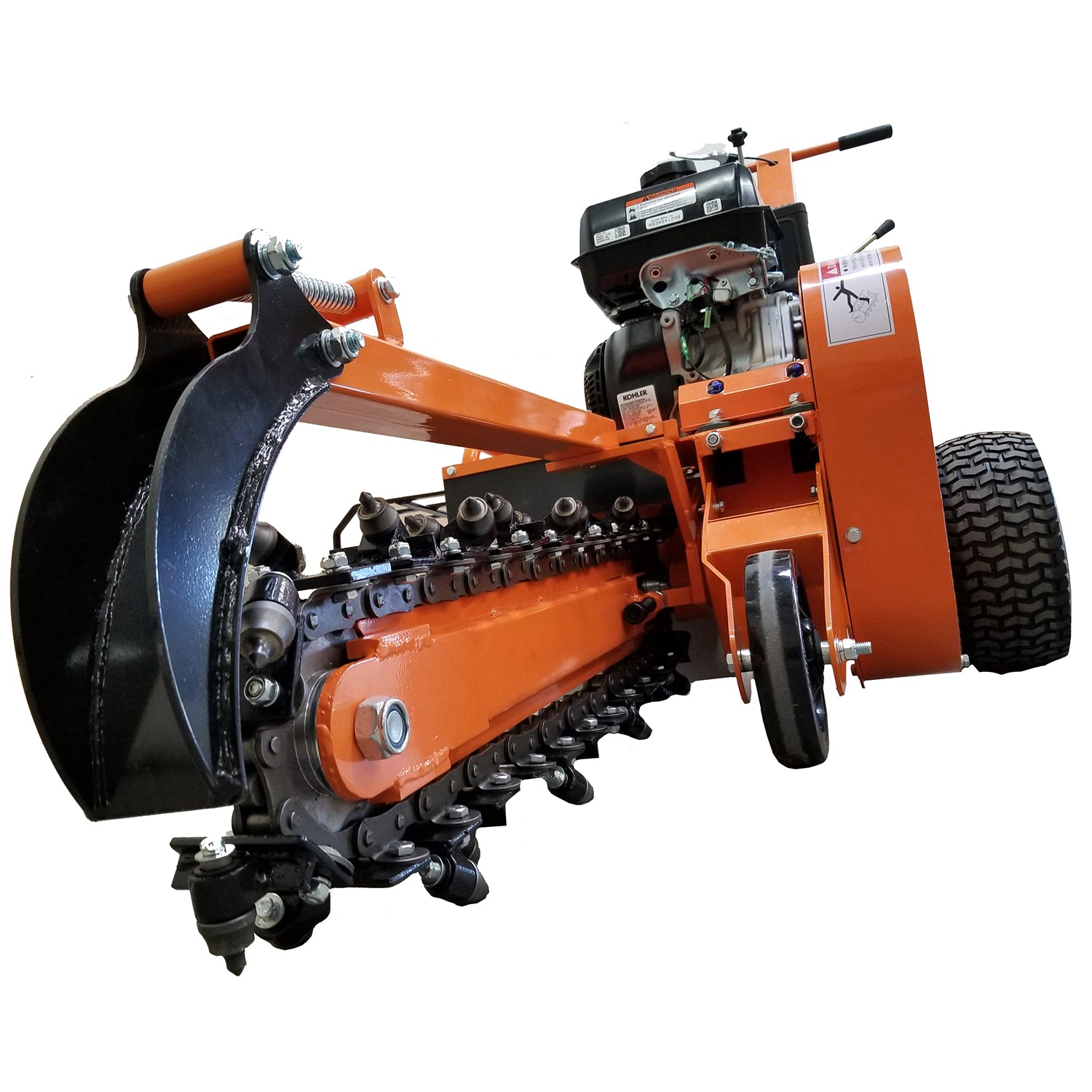 Detail K2 24 Inch 14 HP Trencher - OPT124-Wood Splitter Outlet