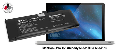 "NewerTech NuPower Battery For MacBook Pro 15"" Unibody Late 2008 & Early 2009"
