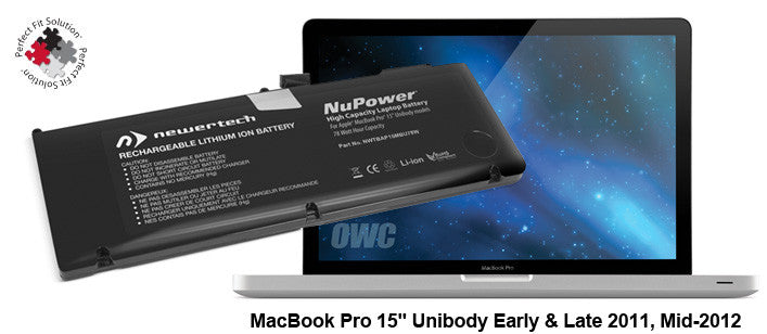 "NewerTech NuPower Battery For MacBook Pro 15"" Unibody Early & Late 2011, Mid-2012"