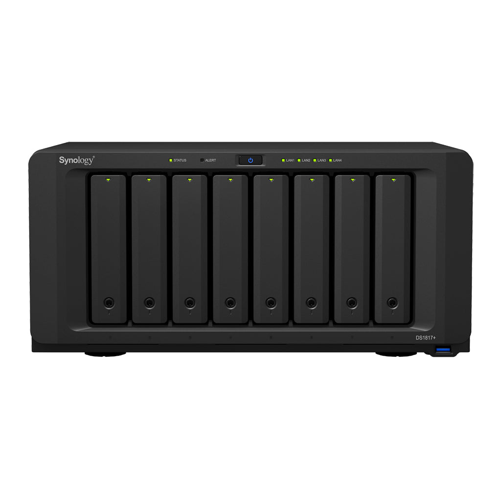 Synology DS1817+2GB 8-Bay Value Enterprise HDD 5YR NAS Server - Disk Included