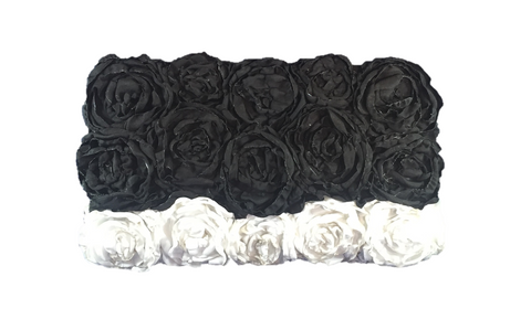 Black & White Rectangular Clutch Bag