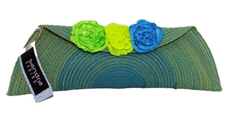 Blue Green Clutch Bag