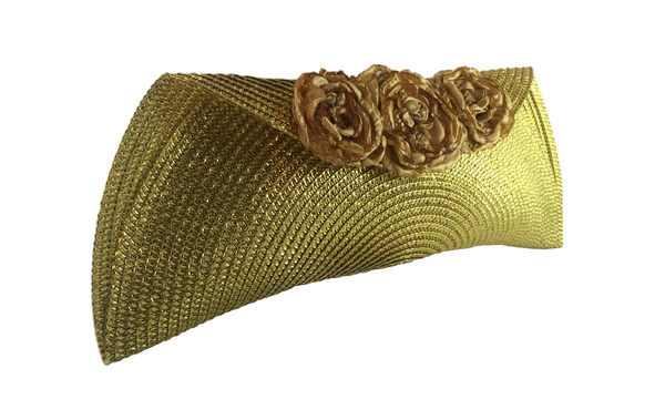 Gold Semi Half Moon Clutch Bag