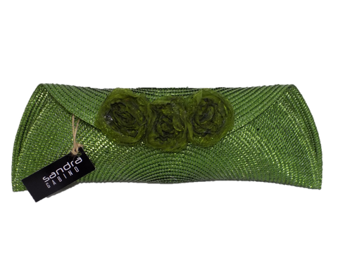 Green Semi Half Moon Clutch Bag