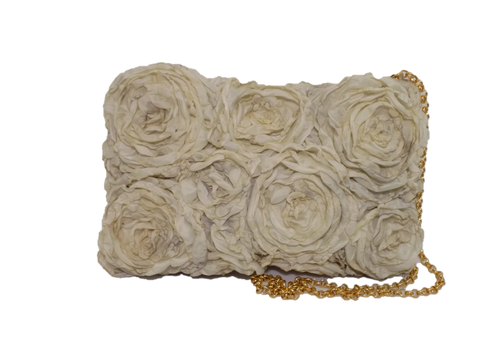 Ivory Rectangular Clutch Bag