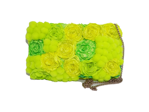 Lemon Rectangular Clutch Bag