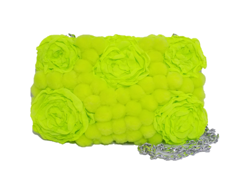 Lime Rectangular Clutch Bag