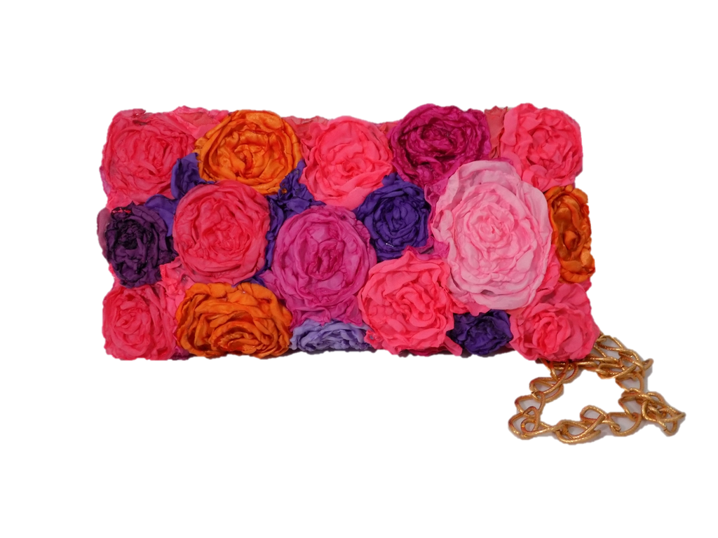 Bouquet Rectangular Clutch Bag