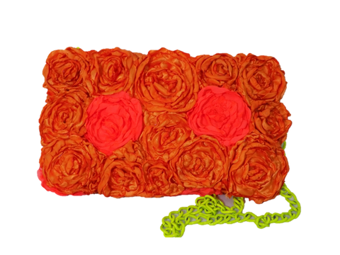 Tangerine Rectangular Clutch Bag