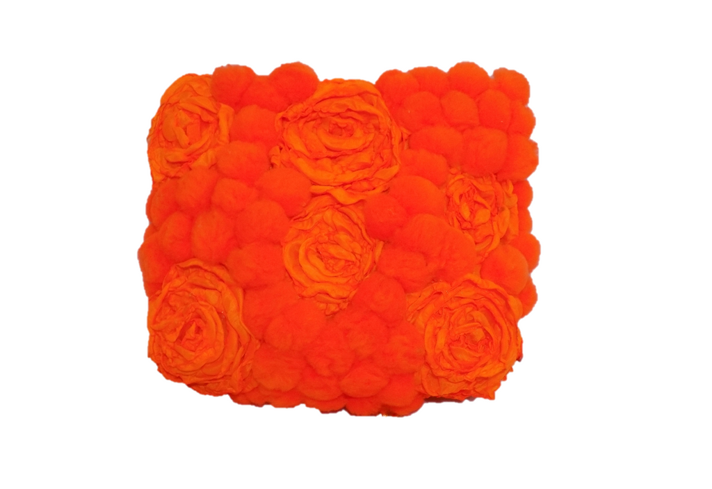Orange Rectangular Clutch Bag