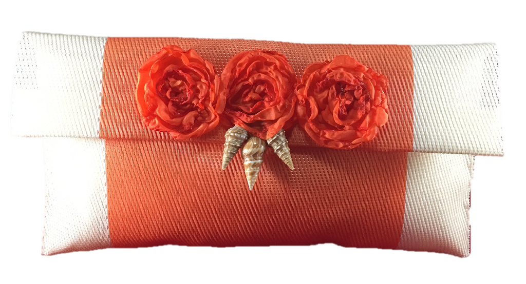 Tropical Orange Sea Clutch