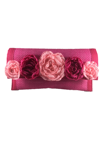 Pink Rectangular Clutch Bag